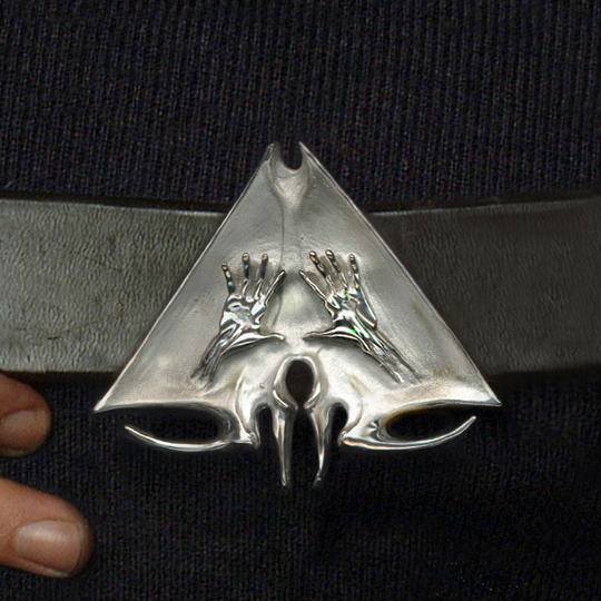 Emblem for a Secret Society Belt Buckle